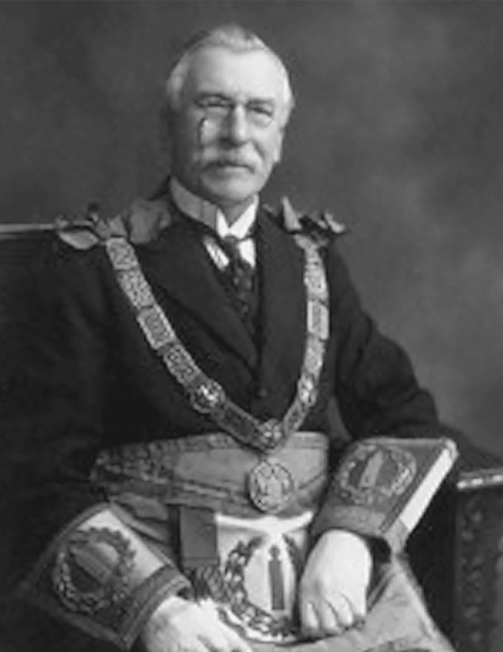 "Sir Alfred Robbins perceived influence in the governing of freemasonry in the early years of the twentieth century led to him being described as ""the prime Minister of English freemasonry"""
