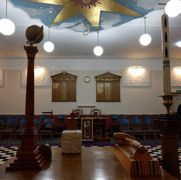 View from the JW's chair at Caversham Lodge 3831, England.