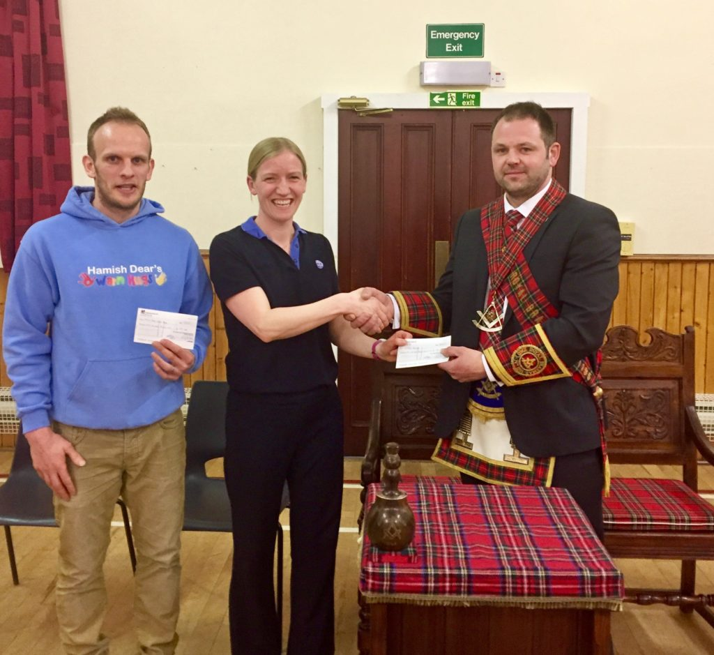 In order to keep with tradition and make a difference within the local community, Brethren of Lodge Royal Braemar donated funds to 1st Fintray Brownies who have recently established themselves and have already attracted a healthy number of local girls. With excellent support from parents the Group have certainly got off to the best possible start. Monies donated will be put towards pop-up tents for the girls to enjoy indoor and outdoor camping expeditions.