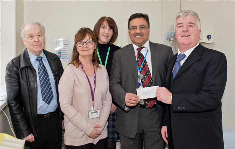 Freemasons of Ruabon Lodges unite to make donations to local charities