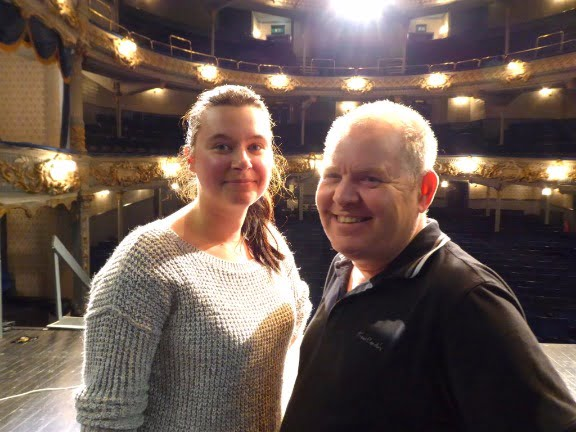 Photo shows: Nikki Simm in rehearsals with James Horner