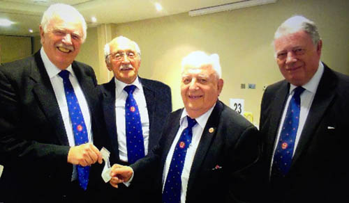 Pictured from left to right, are: John Roberts, Mike Winterbottom James Kontzle and Bob Povall.