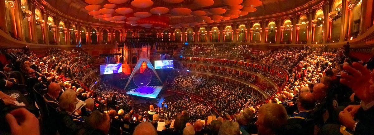 Pic The Royal Albert Hall with over 300 Freemasons in Attendance to celebrate 300 years of the Founding of Grand lodge of England